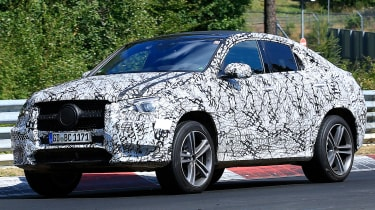 Mercedes GLE Coupe spied