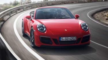 Porsche 911 Carrera 4 GTS Cabriolet - front