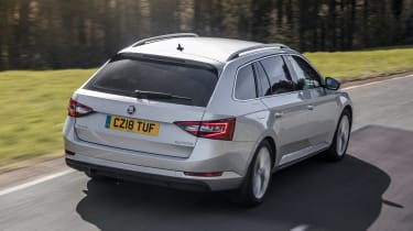 Armoured Skoda Superb - rear