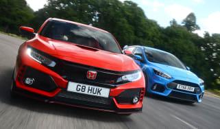 Honda Civic Type R vs Ford Focus RS - header
