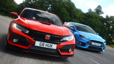 Honda Civic Type R vs Ford Focus RS - header