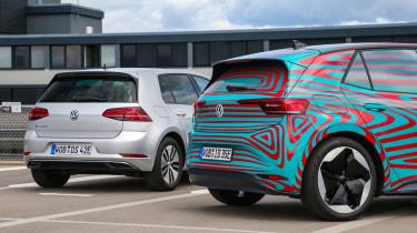 Volkswagen ID.3 vs Volkswagen e-Golf - rear detail