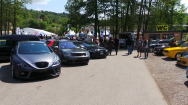 Mix of cars at Worthersee