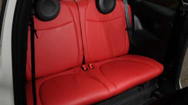 Abarth 500C rear seats