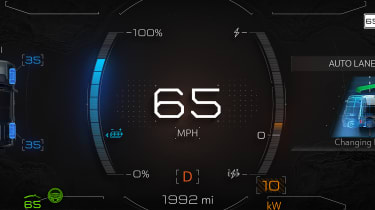 Hummer EV GMC - dials
