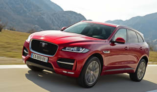 Jaguar F-Pace first drive - front tracking