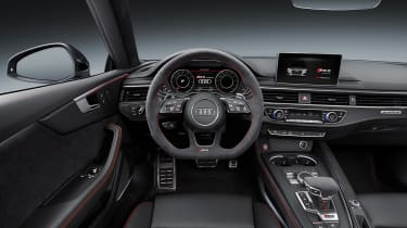 Audi RS5 interior straight on