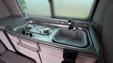 Volkswagen California Edition - sink and gas hob
