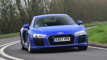 Audi R8 RWS - front action
