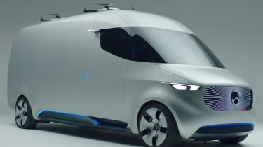 Mercedes Vision Van - video front quarter