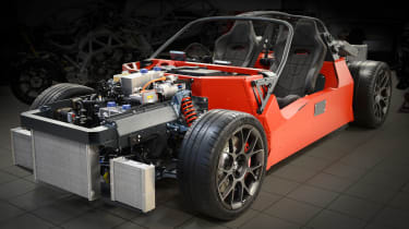 Ariel Hipercar chassis and tech
