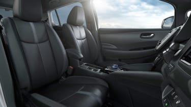 New Nissan Leaf - front seats