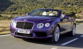 Bentley Continental GTC V8 front tracking