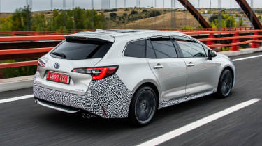 Toyota Corolla Touring Sports prototype - rear action