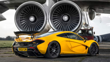 The P1 is based on a modified version of the MP4-12C's carbon structral tub.
