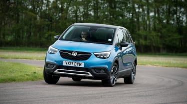 Vauxhall Crossland X - front cornering blue