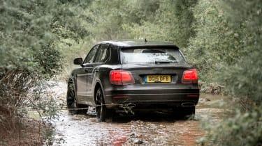 Bentley Bentayga prototype first drive - rear water