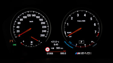 BMW M240i Coupe facelift review - speedometer