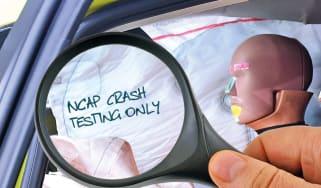 NCAP crash test markings