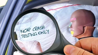 NCAP crash test markings
