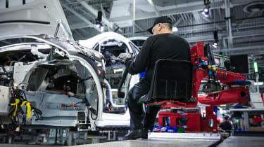 Tesla Factory Tour - production line