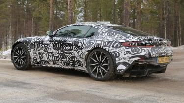 Aston Martin V8 Vantage mule rear quarter