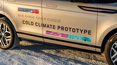 Range Rover Evoque prototype - side detail