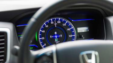 Honda i-MMD hybrid prototype - dials