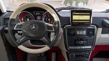 Mercedes G63 AMG 6x6 interior