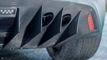 Aston Martin One-77 exhaust detail
