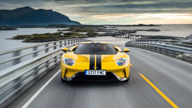 Ford GT Norway road trip - front water