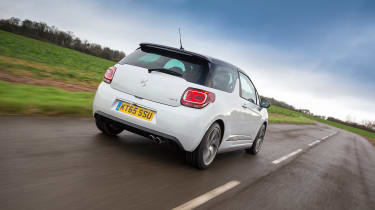 DS 3 hatchback 2016 review - rear tracking
