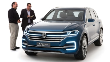 Volkswagen T-Prime concept - front with John McIlroy