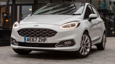 Ford Fiesta Vignale - front LED lights on