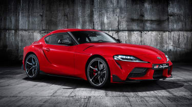 Toyota Supra - red front