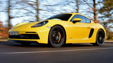 New Porsche Cayman GTS review - front tracking
