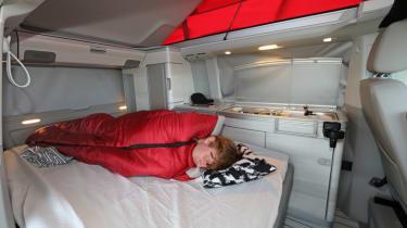 Volkswagen California sleeping space