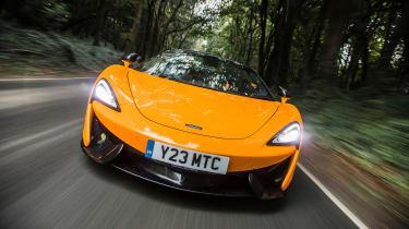 New McLaren 570S Spider - front