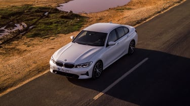 BMW 330e - front above