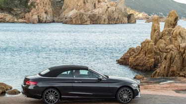 New Mercedes C-Class Cabrio - roof up