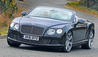 Bentley Continental GTC front cornering