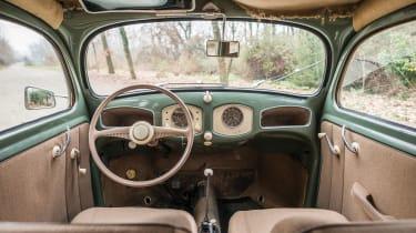 RM Sotheby's 2017 Paris auction - 1952 Volkswagen Type 1 Beetle interior