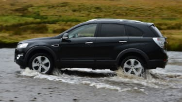 The Captiva features stiffer suspension and a thiker anti-roll bar.