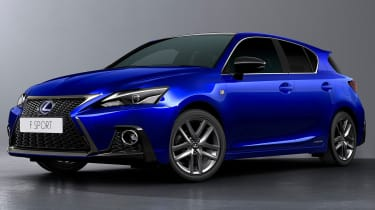 2018 Lexus CT facelift front quarter