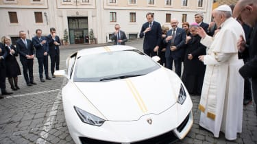 Pope Francis Lamborghini Huracan front