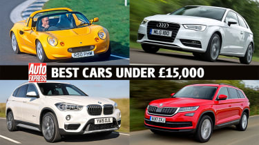 Best cars for £15,000 or less