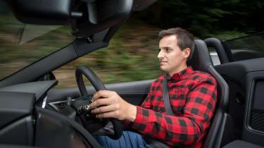 Jaguar F-Type driving
