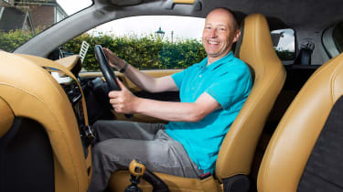 Searching for the Aston Martin Cygnet - Tim inside