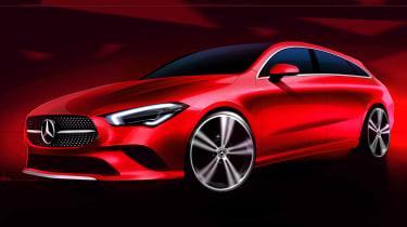 Mercedes CLA Shooting Brake - front sketch