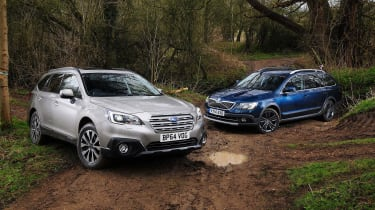 Off-road estates are growing in popularity, with Subaru looking to take back a piece of the market with the new Outback. Here it takes on the Skoda Superb Outdoor.